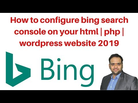 How to configure bing search console on your html  php  wordpress website