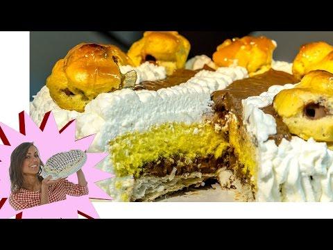 Torta Saint Honoré al Cioccolato