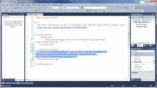 Part 1 - Introduction to ADO.NET  - Add Connection String to Web.Config