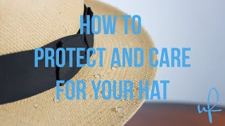 How to Protect Your Straw Hat from Water