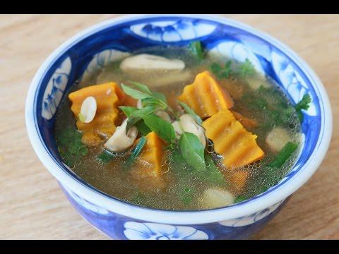 Pumpkin Soup (Vegan) – Canh bí đỏ