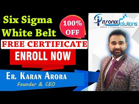 Six Sigma White Belt FREE Certification - Lean Six Sigma Free ...