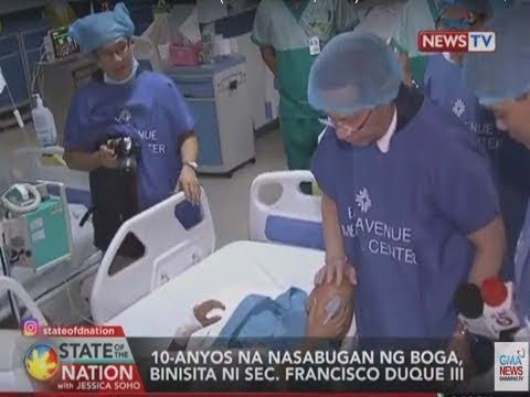 [GMA]  SONA: 10-anyos na nasabugan ng boga binisita ni Sec. Fancisco Duque III