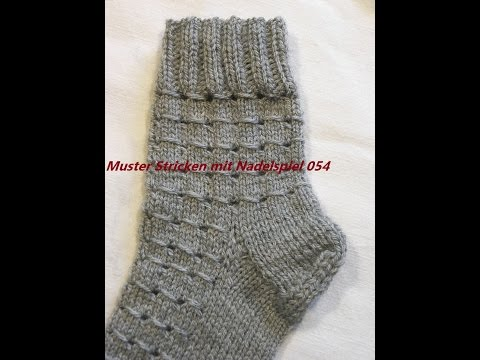 Muster Stricken mit Nadelspiel*Stricken lernen*Muster für Pullover*Socken*Mütze*Tutorial Kreativ