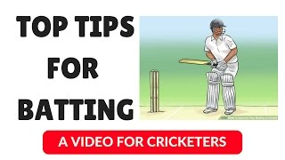 Top 3 Tips for Batsmen | Batting Tips | Cricket Tips | Cricket Coaching | Hindi