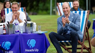 video: Prince William hosts garden party to watch FA Cup Final and raise mental health awareness