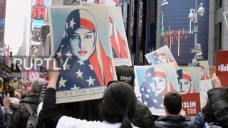 USA: 'Today, I am a Muslim too' – thousands of New Yorkers decry Trump's travel ban