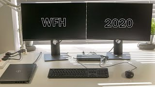 DELL Work From Home Laptop Dual Screen Setup