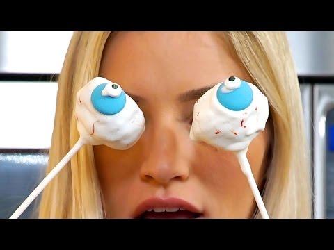 How to Make Eye-Ball Cake Pops | Halloween Treats | iJustine