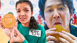 Trying The SQUID GAME Honeycomb Cookie Challenge!
