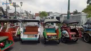 Tuntut Payung Hukum, Penarik Betor Jogja Tinggalkan Becak Motor di Kompleks Kepatihan