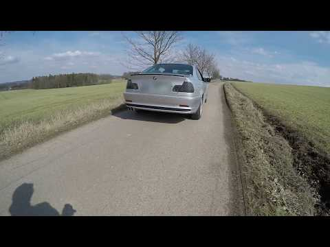 BMW E46 328Ci trying to do a BURNOUT