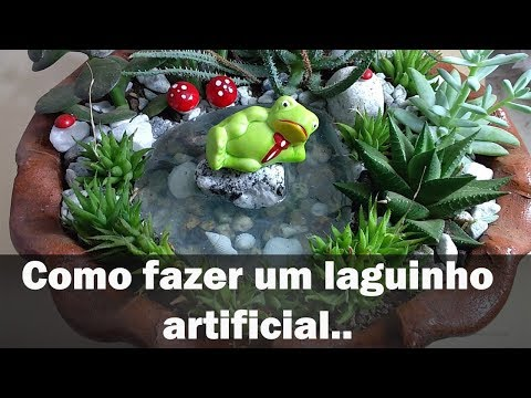 Laguinho para mini jardins