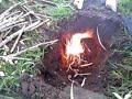 Vuurtje maken met firestarter