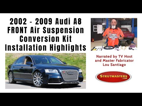 2002-2009 Audi A8 4 Wheel Air Suspension Conversion Kit Installation