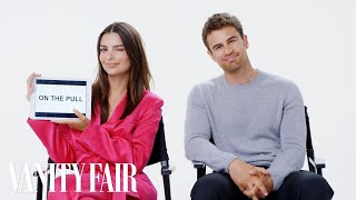 Emily Ratajkowski and Theo James Teach You British Slang | Vanity Fair