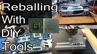Reballing Packard Bell TK81 With DIY BGA Rework Station