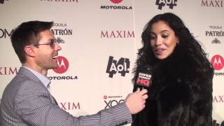 Empire Girls Julissa Bermudez Interview at the Maxim Super Bowl Party