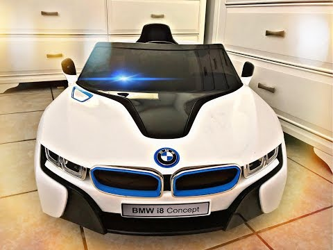 BMW i8 Kids electric toy car unbox assemble Ride   Toys for kids & children