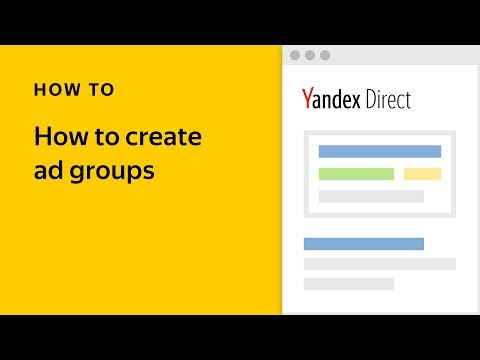 How to create ad groups