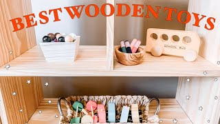 BEST WOODEN TOYS FOR TODDLERS( HAPE, MELISSA AND DOUG, ETC)