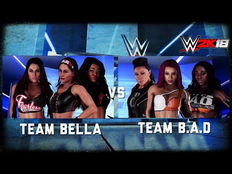 WWE 2K18| Team Bella Vs Team B.A.D [Gameplay]
