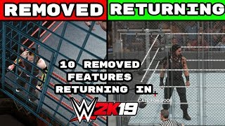 WWE 2K19: 10 REMOVED Features That Are Returning To The Series