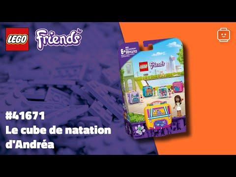 Vidéo LEGO Friends 41671 : Le cube de natation d'Andréa
