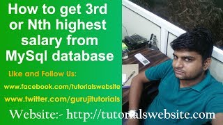 How to get a 3rd highest salary or nth salary in mysql