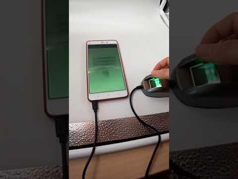 HF4000 Fingerprint Scanner Android Operation