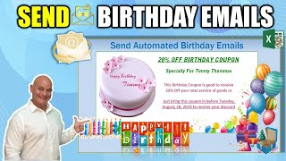 How To Automatically Send Customized Birthday Emails With Microsoft Excel