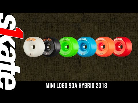 Mini Logo Skateboard Wheel A-cut 55mm 90A Green 4pk