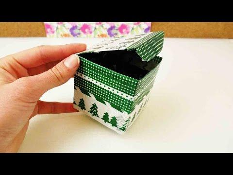 Box selber machen aus Pappe als Aufbewahrung | DIY Weihnachtsgeschenk oder zum  Geburtstag