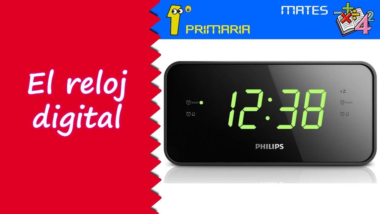 Matemáticas. 1º Primaria. Tema 9: Introducción al reloj digital