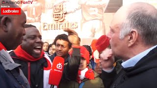 Arsenal 3-0 Watford | Have Respect! Claude & Fan Clash Over Wenger