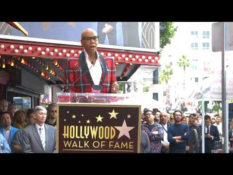 RuPaul speaks at Hollywood Walk of Fame Star Ceremony