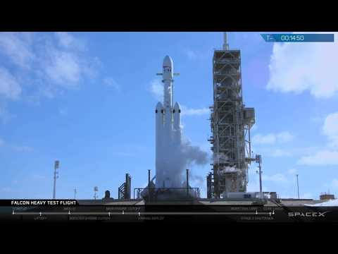 Запуск ракеты Falcon Heavy компании SpaceX