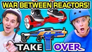 REACTOR WAR! TOY STORE TAKEOVER CHALLENGE (ft. Kids, Teens, Adults)