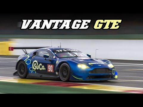 Aston Martin Vantage GTE V8 fly-by's at Spa 2018