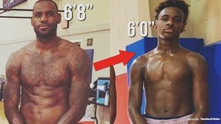 Bronny James INSANE! Growth As A 13 Year OLD | Soon Going To Be Taller Then LEBRON?