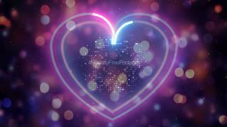 neon lights heart background video, neon background video, neon heart animation background video