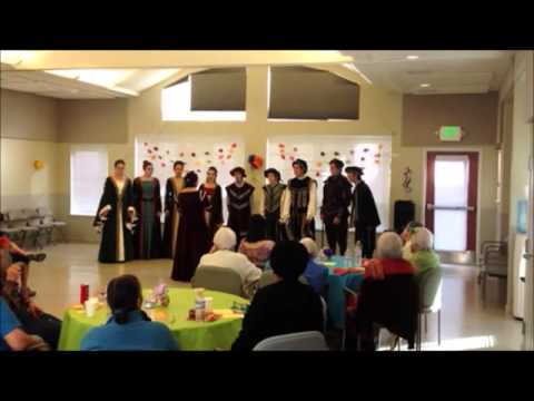 Directing the Davis High School Madrigals in a hired, private event. (Nov. 2013)