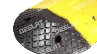 Rubber Speed Hump End Cap - 250*350*53 mm