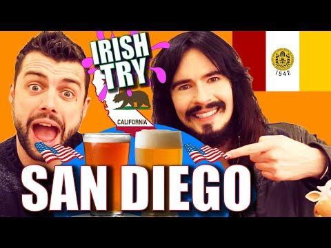 Irish People Taste Test 'SAN DIEGO' California!! - Beer & Snacks
