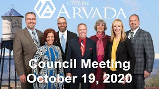 Preview image of Arvada City Council Meeting - October 19, 2020
