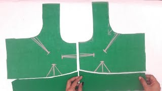 simple blouse cutting and stitching video || blouse stitching video