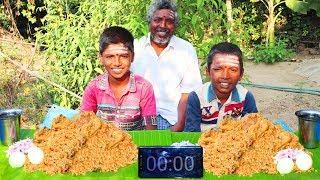 CHICKEN BIRYANI EATING CHALLENGE | VILLAGE BOYS EATING CHALLENGE | CHICKEN BIRYANI | FARMER COOKING