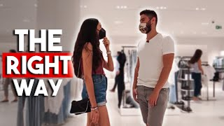 How To Approach A Girl With A Mask In Store (Demonstration)