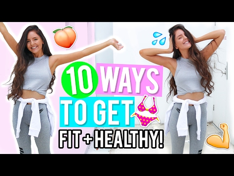 Video 10 Ways to Get Healthy & Fit 2017! Healthy Lifestyle & Fitness DIYs, Life Hacks + Recipes!