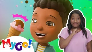 Ice Cream Song! | Sign Language For Kids | Baby Songs | Little Baby Bum | ASL